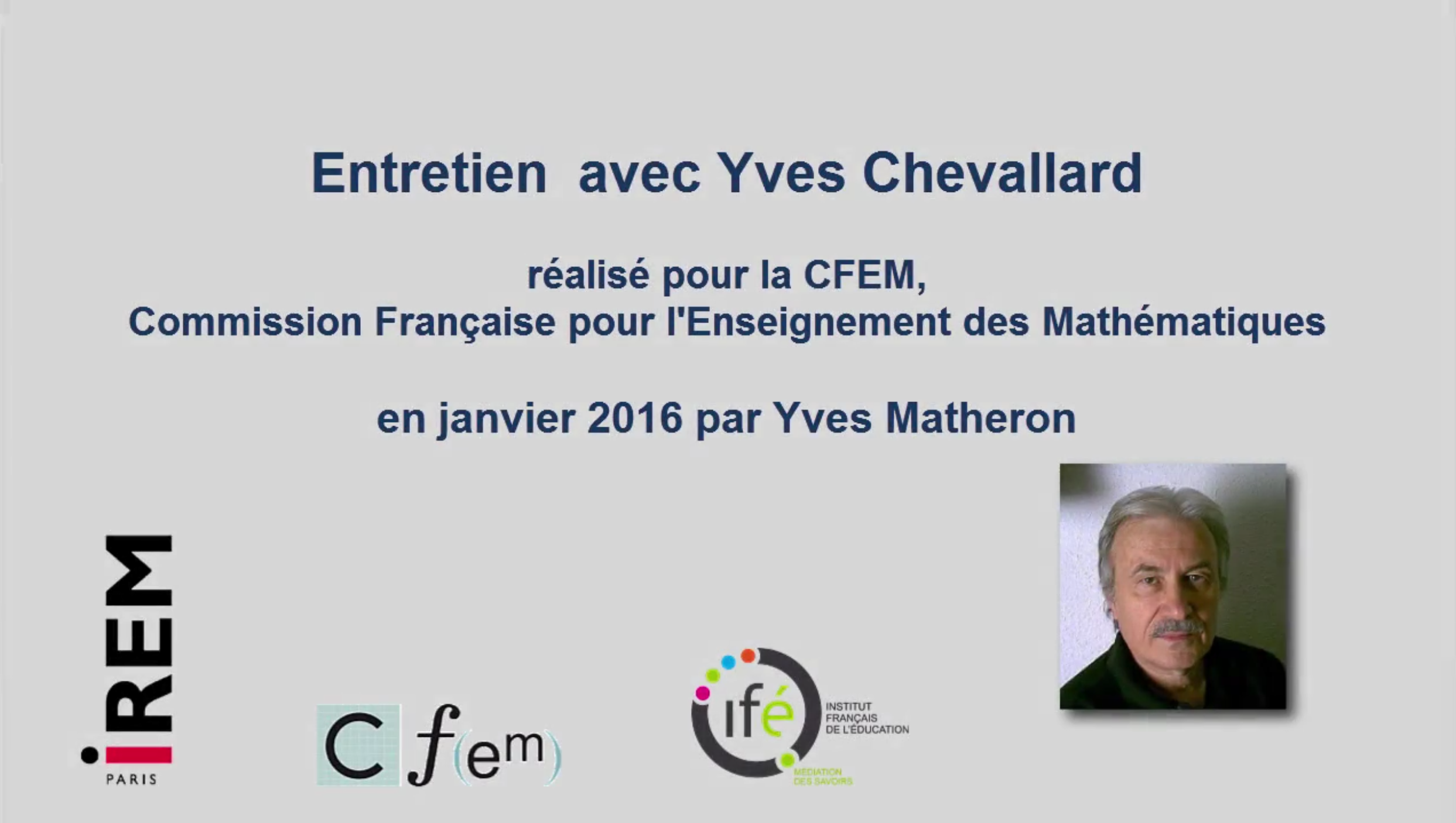 Entretien Chevallard