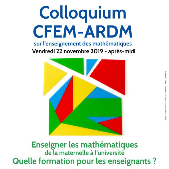 Colloquium CFEM-ARDM 2019